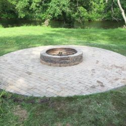 firepit stone patio