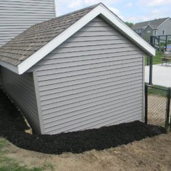 mulch and fencing